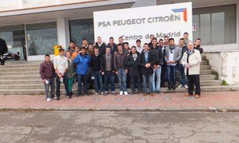Visita  a las  instalaciones de PSA Peugeot Citroen