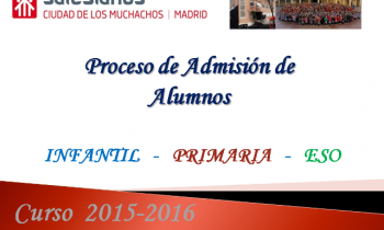 Proceso de admisión de alumnos curso 2015-2016