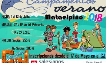 Información Campamento de Verano Mataelpino 2018