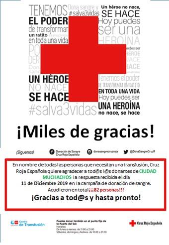 Donación sangre 2019 Salesianos Ciudad de los muchachos FP