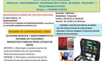 Próximo curso certificado profesionalidad Infraestructuras de Redes